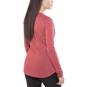 Salewa Fanes Dri-Rel - T-shirt manches longues Femme - rouge